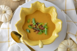 Sweet Potato Apple Soup w/Bacon