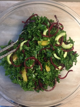Christmas Kale Salad w/Citrus Dressing