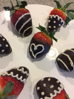 Carob-dipped Strawberries