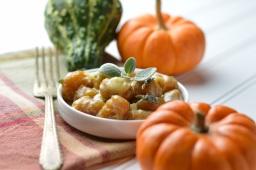 Pumpkin Gnocchi & Lemon Sage Sauce